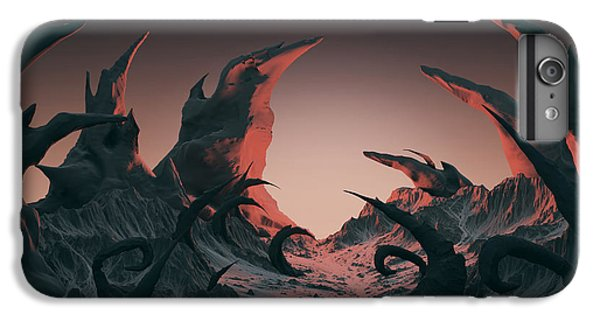 Space iPhone 6s Plus Case - 3d Rendering Of Horror Landscape. Dry by Bug fish