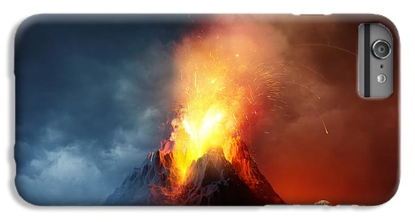 Hot iPhone 6s Plus Case - A Large Volcano Erupting Hot Lava And by Solarseven