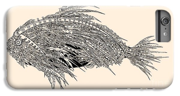 Spines iPhone 6s Plus Case - Anatomy Of A Fish. Robot Spiked Fish by Ryger