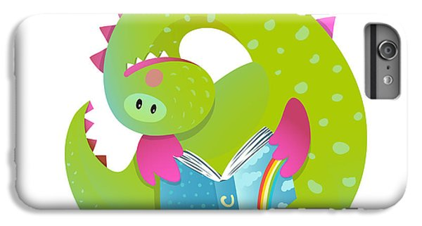 Dragon iPhone 6s Plus Case - Baby Dragon Reading Book Study Cute by Popmarleo