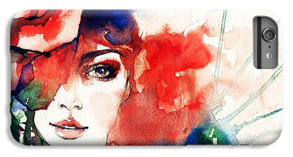 Fitness iPhone 6s Plus Case - Beautiful Woman Face. Watercolor by Anna Ismagilova