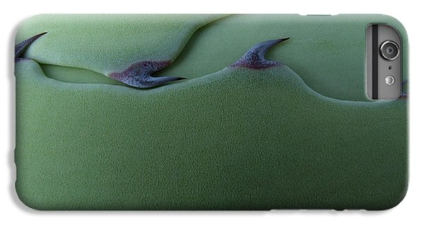 Spines iPhone 6s Plus Case - Cactus Leaf Pattern by Emily Goodwin