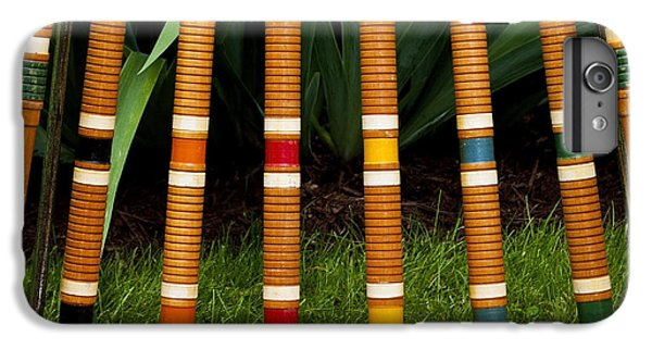 Fitness iPhone 6s Plus Case - Complete Set Of Croquet Mallets And by Robert Hale