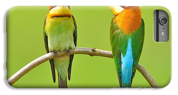 Spines iPhone 6s Plus Case - Couple Of Bee Eater Bird by Butterfly Hunter