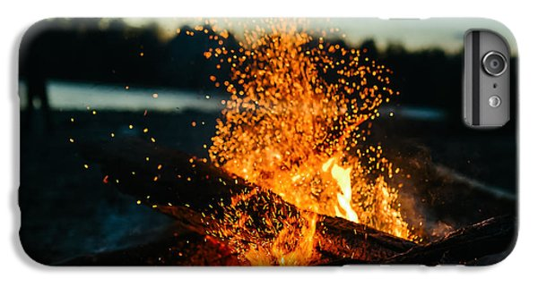 Dragon iPhone 6s Plus Case - Fire In Nature . Bokeh From The Fire by Ivandan