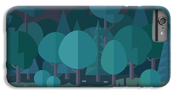 Space iPhone 6s Plus Case - Forest Landscape In A Flat Style In The by Art.tkach