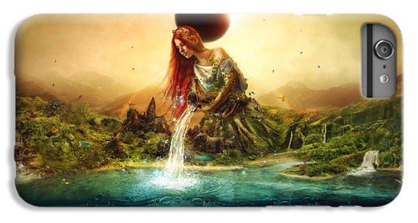 Flower Fairy iPhone 6s Plus Case - Fountain Of Eternity by Mario Sanchez Nevado