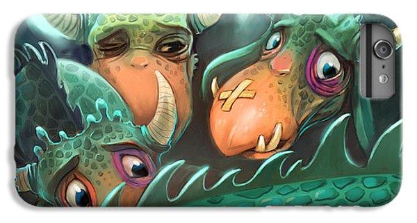 Dragon iPhone 6s Plus Case - Frightened Fabulous Monster by Annanenasheva