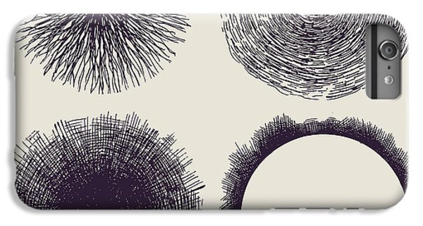 Space iPhone 6s Plus Case - Grunge Halftone Drawing Textures Set by Jumpingsack