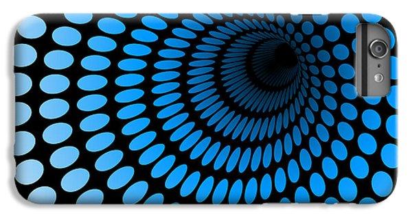 Space iPhone 6s Plus Case - Hi Tech Blue Tunnel, Digital Dynamic by Artcalin