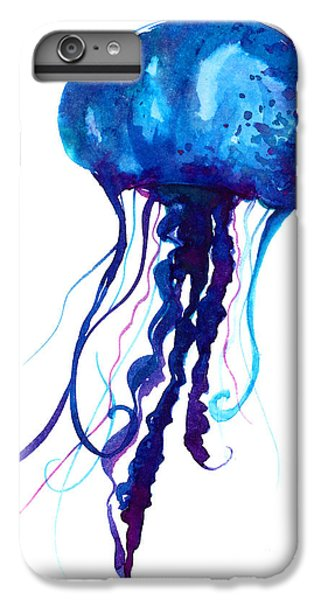 Space iPhone 6s Plus Case - Jellyfish Watercolor Illustration by Anna Kutukova
