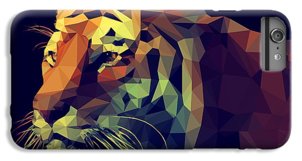 Space iPhone 6s Plus Case - Low Poly Design. Tiger Illustration by Kundra