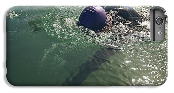 Fitness iPhone 6s Plus Case - Male Swimmer Swimming In Open Water by Jacob Lund