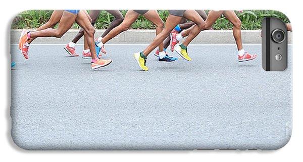 Fitness iPhone 6s Plus Case - Marathon Running Race, People Feet On by Lzf