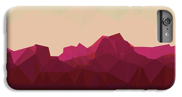 Space iPhone 6s Plus Case - Mountainous Terrain, Polygonal by Droidworker