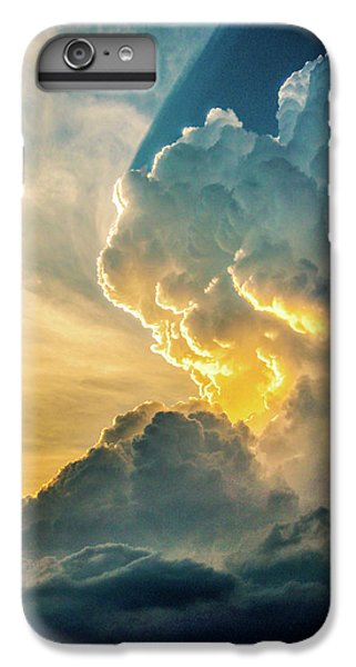 Nebraskasc iPhone 6s Plus Case - Nebraska Sunset Thunderheads 075 by NebraskaSC