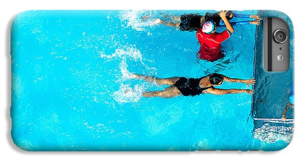 Fitness iPhone 6s Plus Case - People Exercising In A Swimming Pool by Mongpro