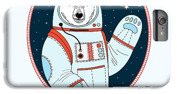 Space iPhone 6s Plus Case - Polar Bear Astronaut In Outer Space by Olga angelloz