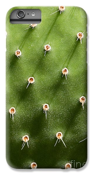 Spines iPhone 6s Plus Case - Prickly Pear Cactus Close Up by Sumikophoto