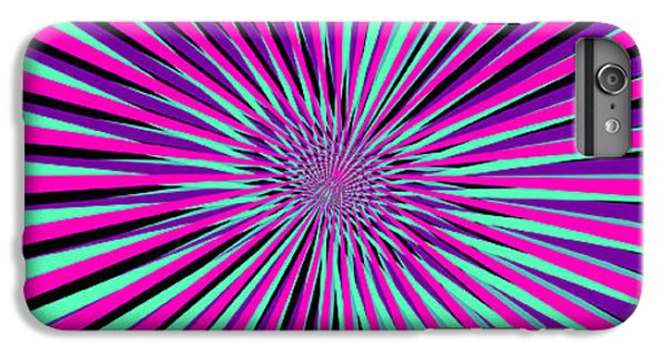 Space iPhone 6s Plus Case - Pyschedelic Pink & Purple Art by Christiana Mustion