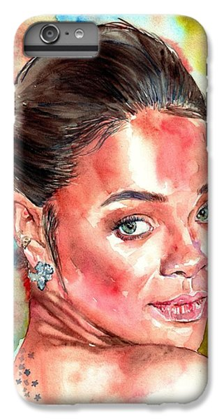Coldplay iPhone 6s Plus Case - Rihanna Portrait by Suzann Sines