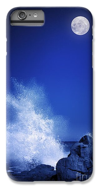 Space iPhone 6s Plus Case - Rising Moon Over Rocky Coastline At by Johan Swanepoel