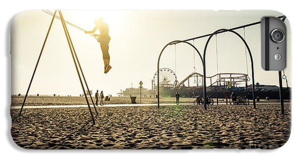 Fitness iPhone 6s Plus Case - Santa Monica Beach. Silhouette Of A by Oneinchpunch