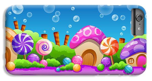 Fairy Cake iPhone 6s Plus Case - Seamless Cartoon Fairy Tale Landscape by Juliyam