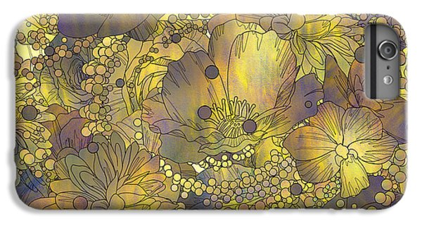 Floral iPhone 6s Plus Case - Seamless Pattern Of Colorful Flowers by Tithi Luadthong