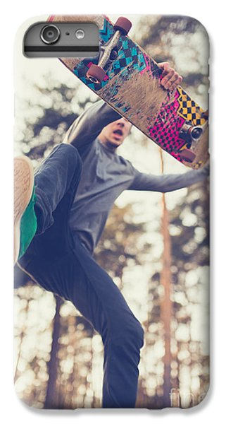 Fitness iPhone 6s Plus Case - Skater Guy Jumps by Aleshyn andrei