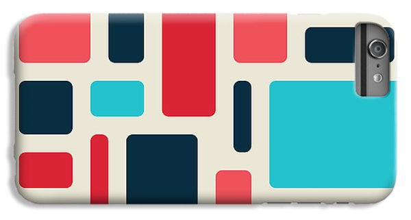 Space iPhone 6s Plus Case - Soft Geometric Pattern In Retro by Vector Fx