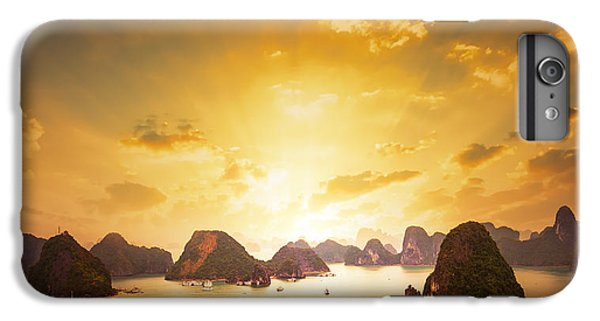Dragon iPhone 6s Plus Case - Sunset Over The Islands Of Halong Bay by Banana Republic Images