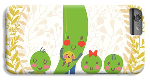 Fitness iPhone 6s Plus Case - Sweet Peas In Cute Cartoon Style by Smilewithjul