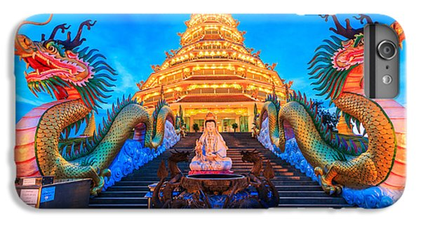Dragon iPhone 6s Plus Case - The Dragon In Temple Wat Hyua Pla Kang by Apiguide