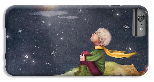 Flower Fairy iPhone 6s Plus Case - The Little Prince With A Rose On A by Natalia maroz