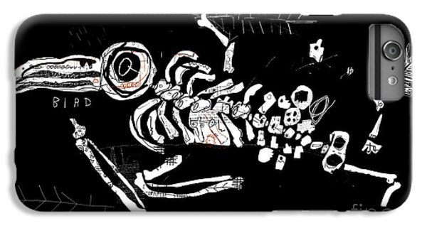 Spines iPhone 6s Plus Case - The Skeleton Of A Bird Which Ate by Dmitriip