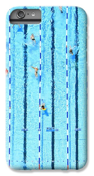 Fitness iPhone 6s Plus Case - Top View On Pool With Blue Water And by Protasov An