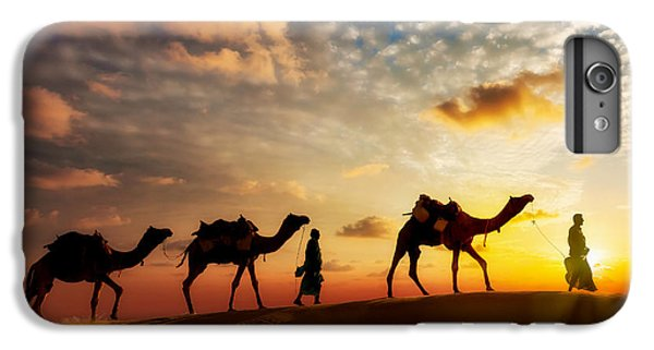 Hot iPhone 6s Plus Case - Travel Background - Two Cameleers Camel by Dmitry Rukhlenko