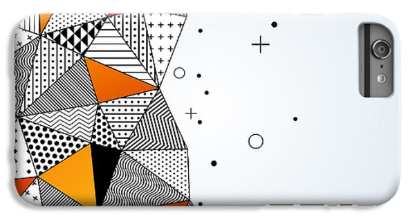 Space iPhone 6s Plus Case - Triangle Pattern Background. Vector by Kotoffei