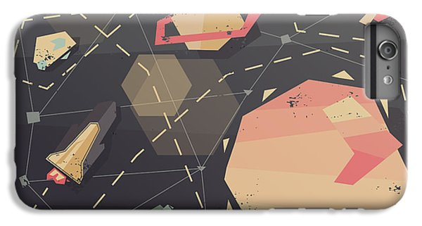 Space iPhone 6s Plus Case - Vintage Postcard Of Spaceship In by As Good As Possible