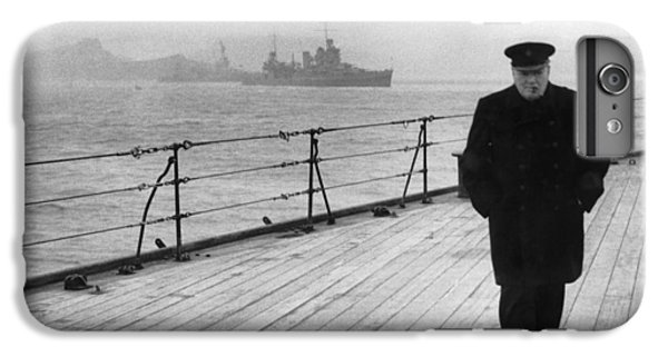 Boats iPhone 6s Plus Case - Winston Churchill At Sea by War Is Hell Store