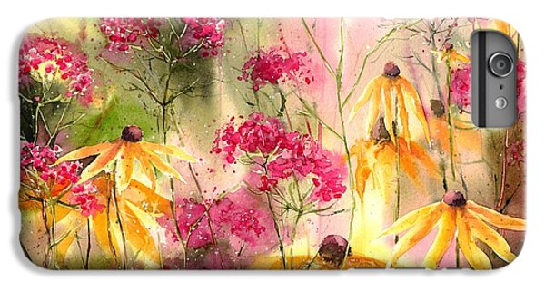 Orchid iPhone 6s Plus Case - Yellow Ballerinas by Suzann's Art
