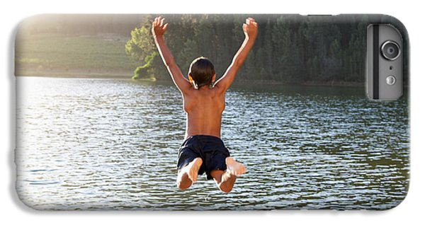 Fitness iPhone 6s Plus Case - Young Boy Jumping Into Lake by Monkey Business Images