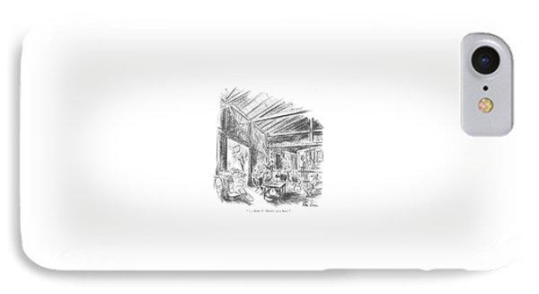 ' . . . Scene 3: Interior Of A Barn.' IPhone Case