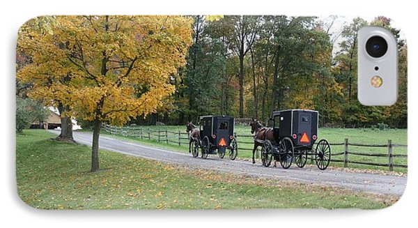 An Autumn Amish Ride IPhone Case by R A W M