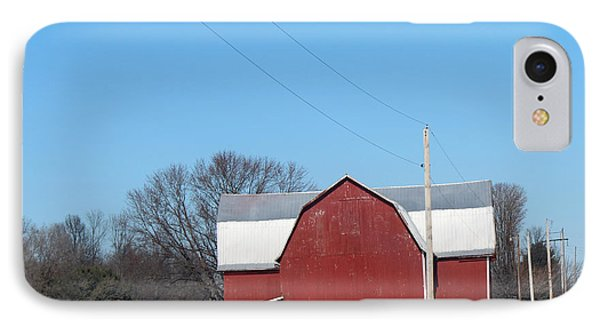 Large Red Barn IPhone Case