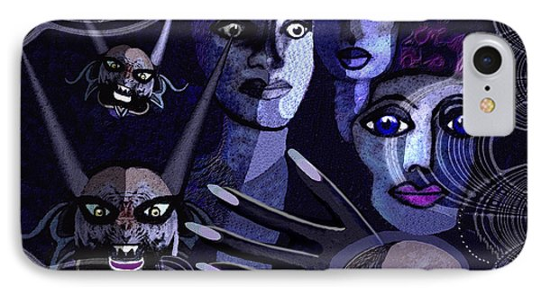 060 -  Paranoia Blues ... IPhone Case by Irmgard Schoendorf Welch