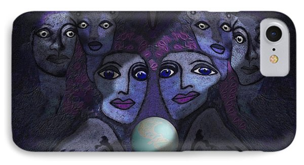 062 - Demons B Phone Case by Irmgard Schoendorf Welch