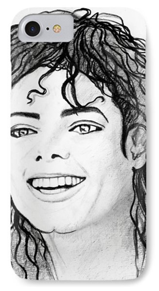 # 1 Micheal Jackson Portraits. IPhone Case by Alan Armstrong