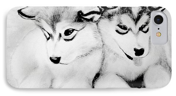# 10 Siberian Husky Puppies IPhone Case by Alan Armstrong